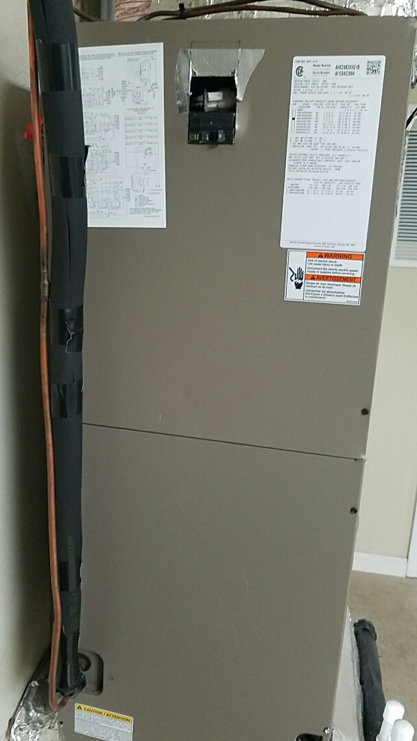 Knoxville, TN - Performed heating inspection section on a Coleman split heat pump.