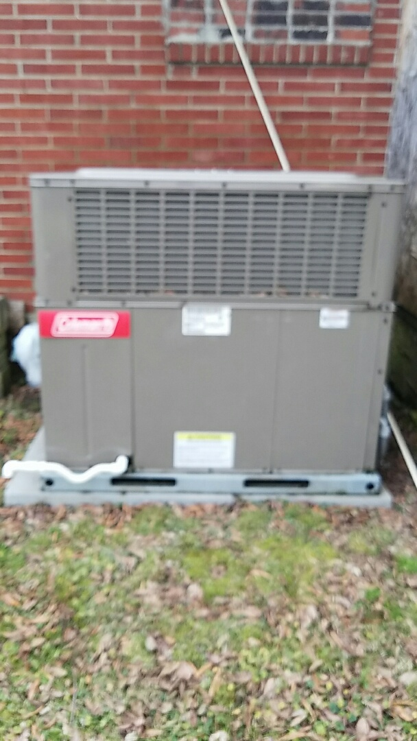 Knoxville, TN - Performed a heating inspection on a package Coleman heat pump.