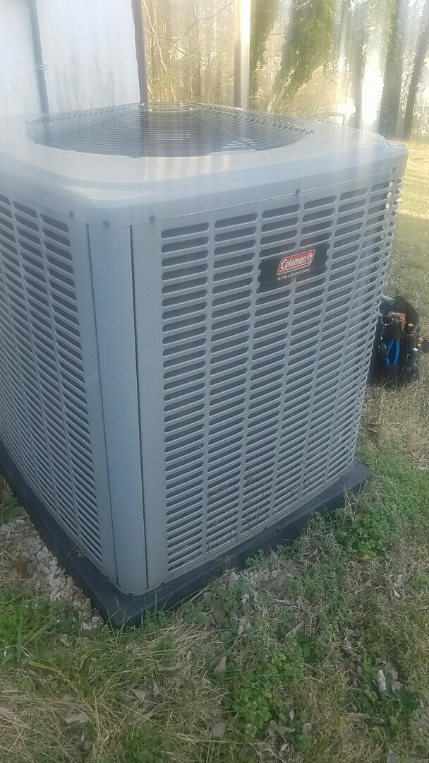 Knoxville, TN - Performed a heating inspection on a Coleman split heat pump.