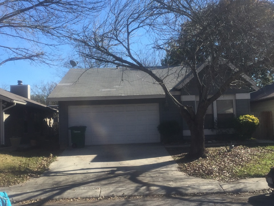 San Antonio, TX - We did this small repair for a real estate transaction off Heritage Hills in San Antonio. They had branch damage - get those trees off your roof!