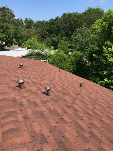 Austin, TX - Feller Roofing completed this beautiful Autumn Brown replacement.