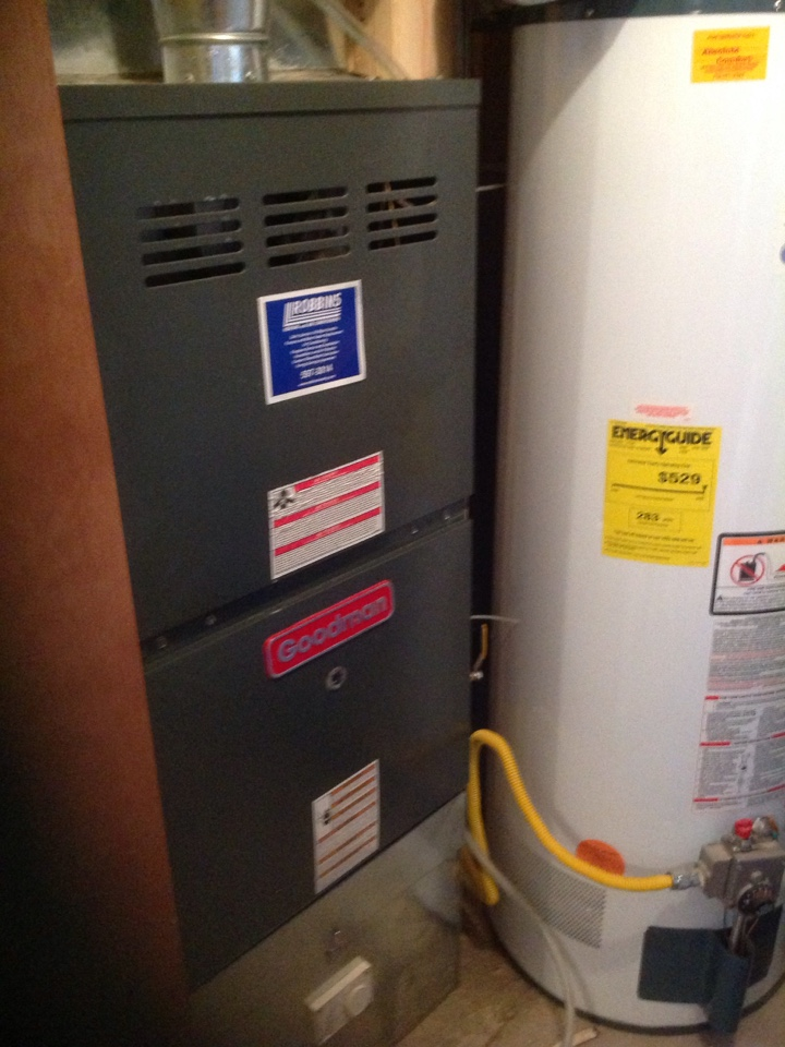Woodland Park, CO - Heating repair on a Goodman furnace in Woodland Park