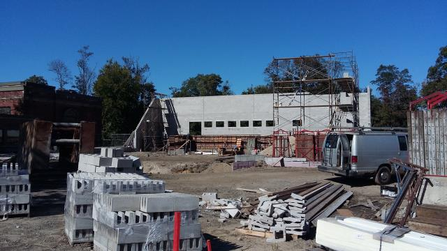 Providence, RI - Job progress meeting for the new South American Rain Forest exhibit. K-LC will be performing a new roof installation.