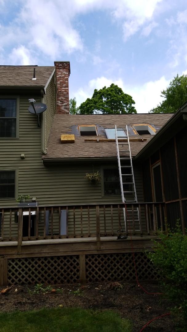 Installing two Velux Sky Lights