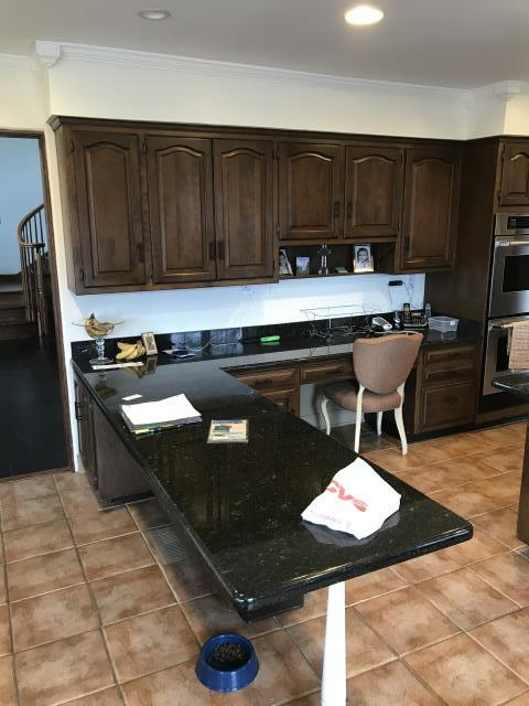 Glenview, IL - Painting of Existing Dark Stained Cabinets