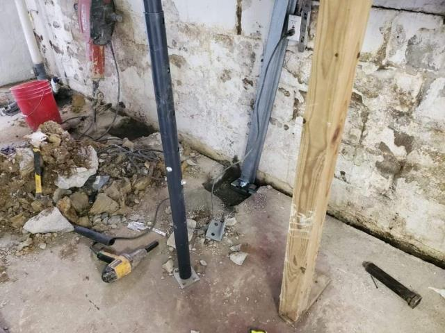 Morgantown, WV - GO Foundation Crew......installing power braces