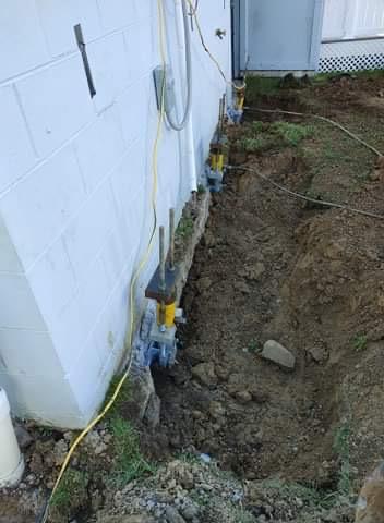 Morgantown, WV - Foundation repair on a snowy day!