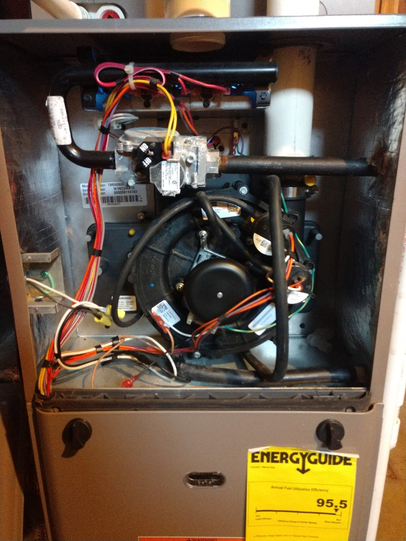 Grand Rapids, MI - Replaced bad inducer draft fan motor due to locked bearings.