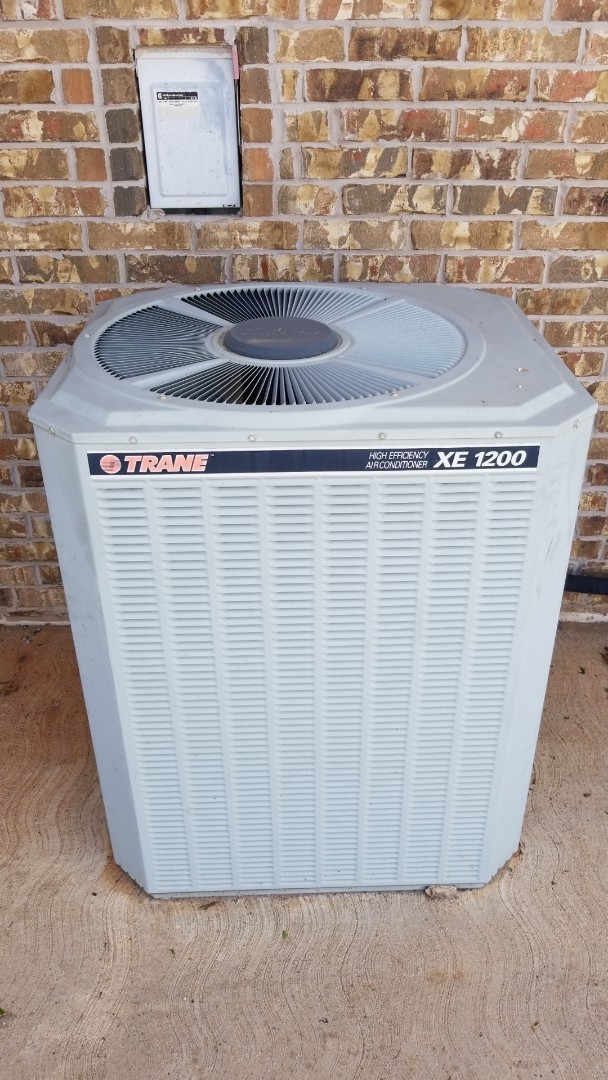 Newcastle, OK - Changing out a condenser fan motor on an old train air conditioner
