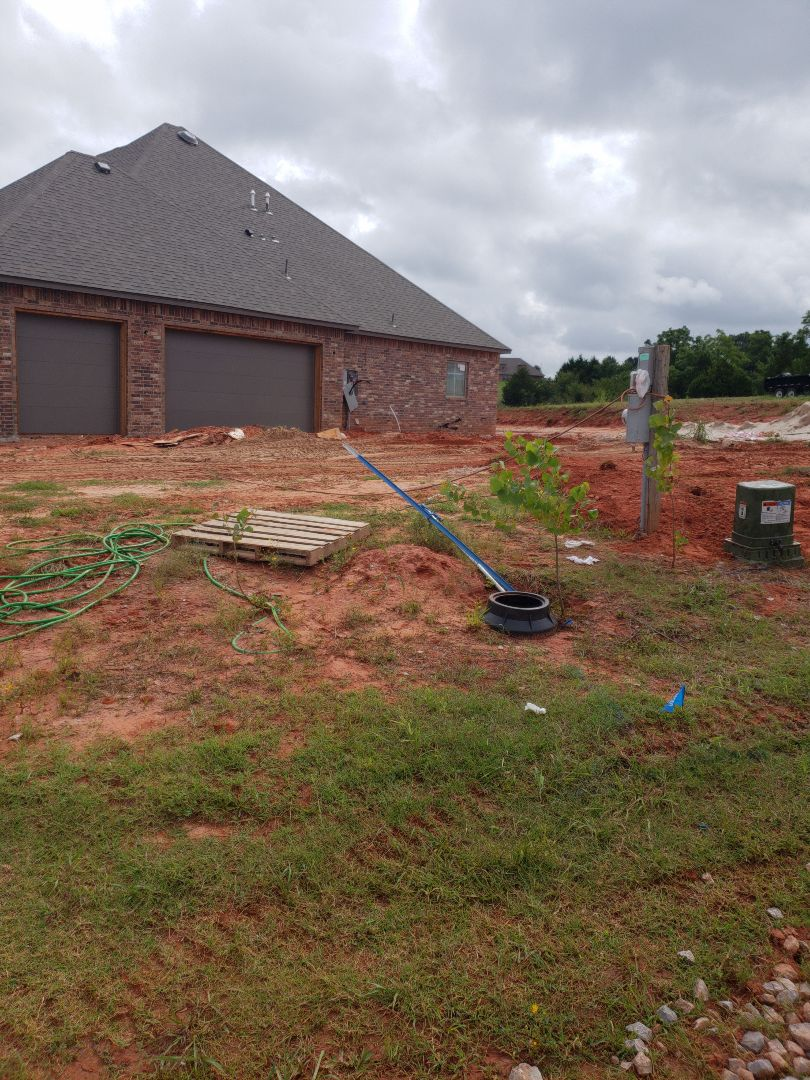 Tuttle, OK - Digging in water line