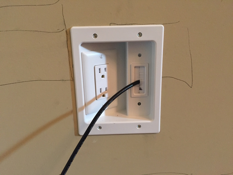 Bogart, GA - Ran circuit for two wall sconce  to switch and added TV box with coax and receptacle.
