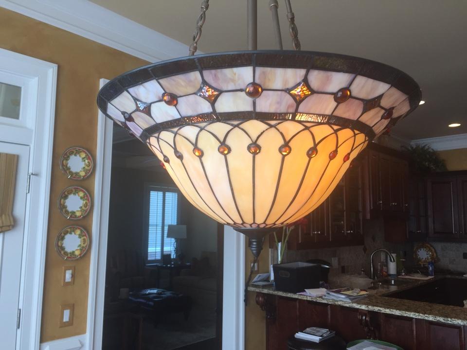 Statham, GA - Installed new chandalier