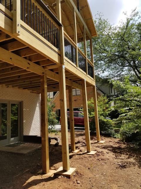 Marietta, GA - Checking deck and screened porch progress