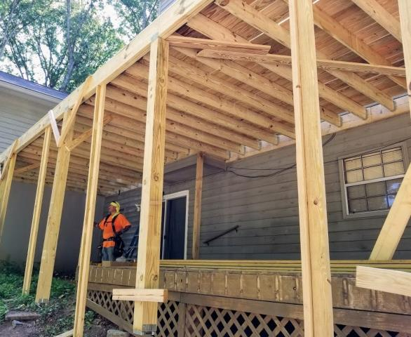 Roswell, GA - Reviewing a new Deck build and Screened Porch project