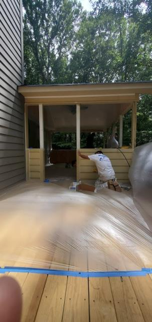 Roswell, GA - Exterior Painting of a new Screened Porch