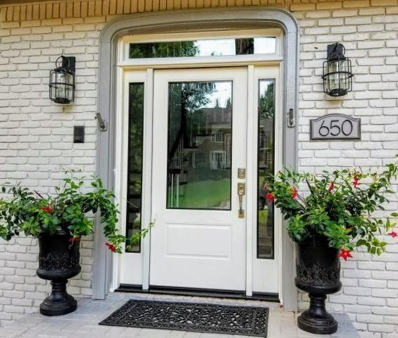 Marietta, GA - Installed a New Front Door with Transom and Sidelites.