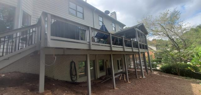 Marietta, GA - New Trex Composite Deck and Screened In Porch project completed.