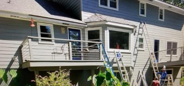 Roswell, GA - Composite Deck Replacement and James Hardie ColorPlus Siding Replacement Final repairs