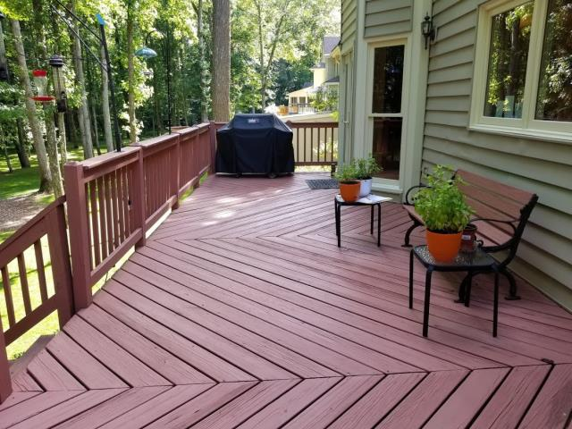Alpharetta, GA - Meeting with a potential client to discuss deck upgrades.  They are considering new railings and new composite decking.  It's a perfect of time of year to enjoy the outdoors on a beautiful deck.