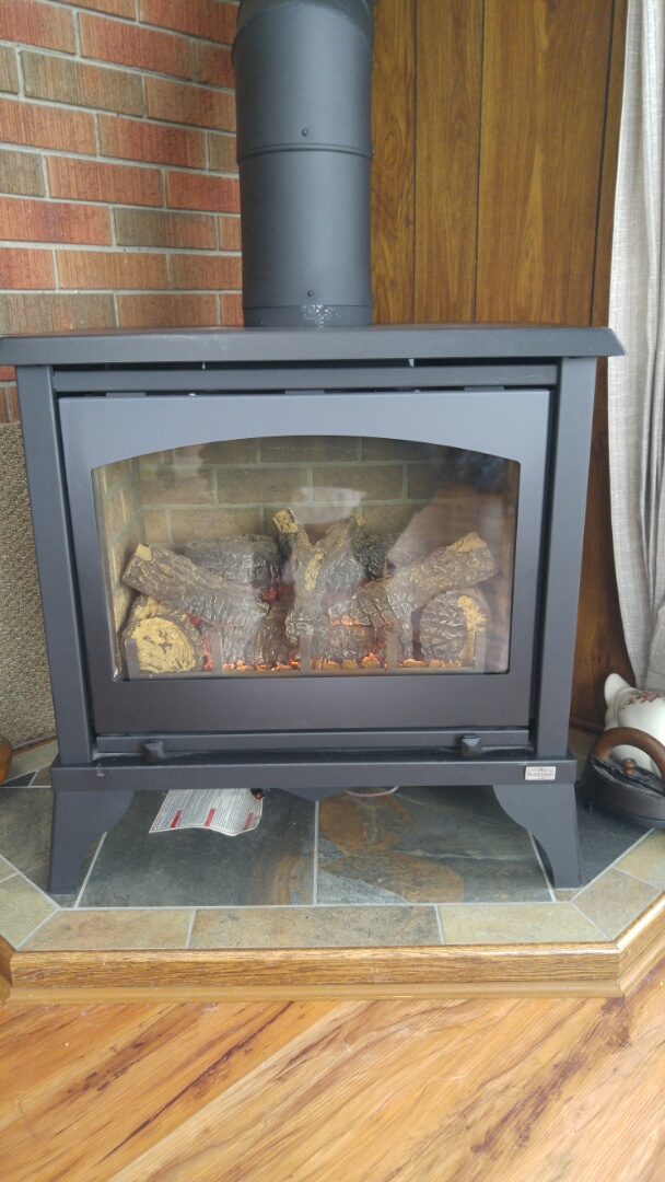 Niagara-on-the-Lake, ON - Fireplace Service call. Fireplace repair performed on Kozy heat.