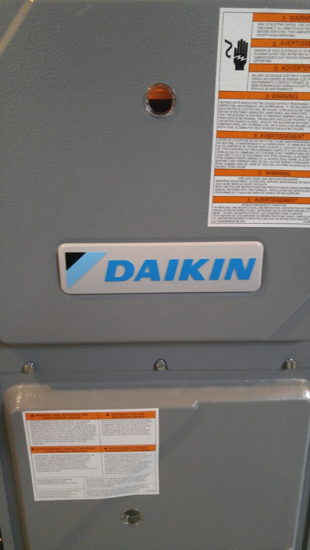 Niagara Falls, ON - Furnace maintenance call. Performed maintenance on Daikin furnace