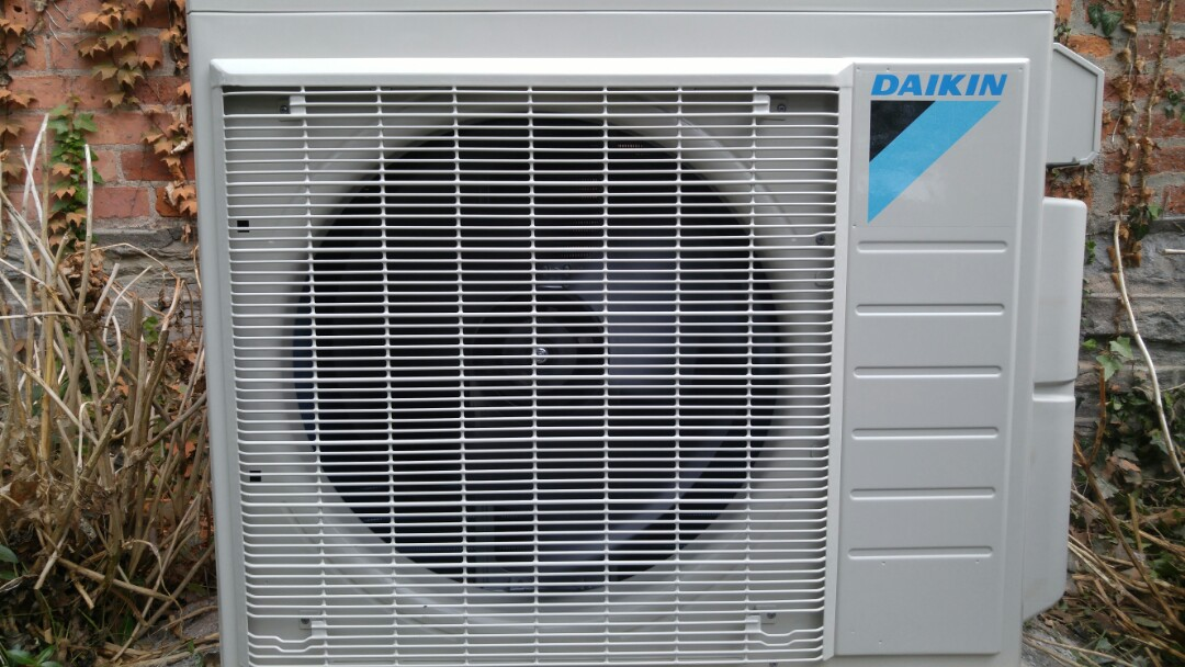 Thorold, ON - Installation. Installed Daikin ductless heat pump unit.