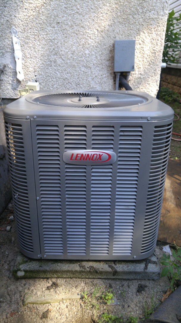St. Catharines, ON - Service call. Performed air conditioner maintenance on Lennox air conditioner.