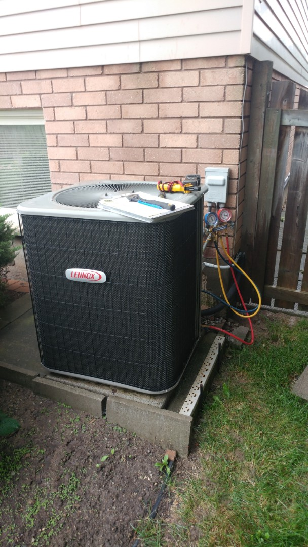 St. Catharines, ON - Maintenance and inspection of Lennox furnace and air conditioner.