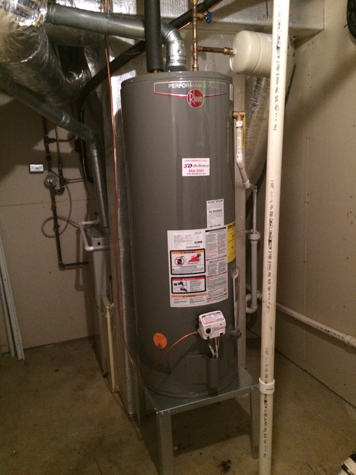 Installation of a new #Rheem Gas Water Heater.