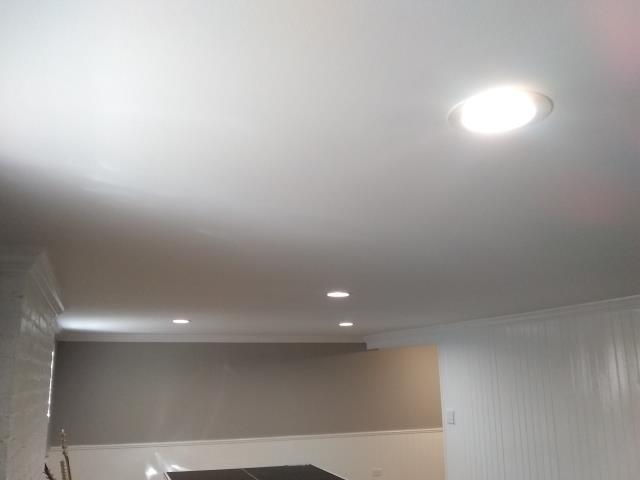 Northbrook, IL - We installed new paneling and painted the whole basement. Also installed new LED lights and dimmers.