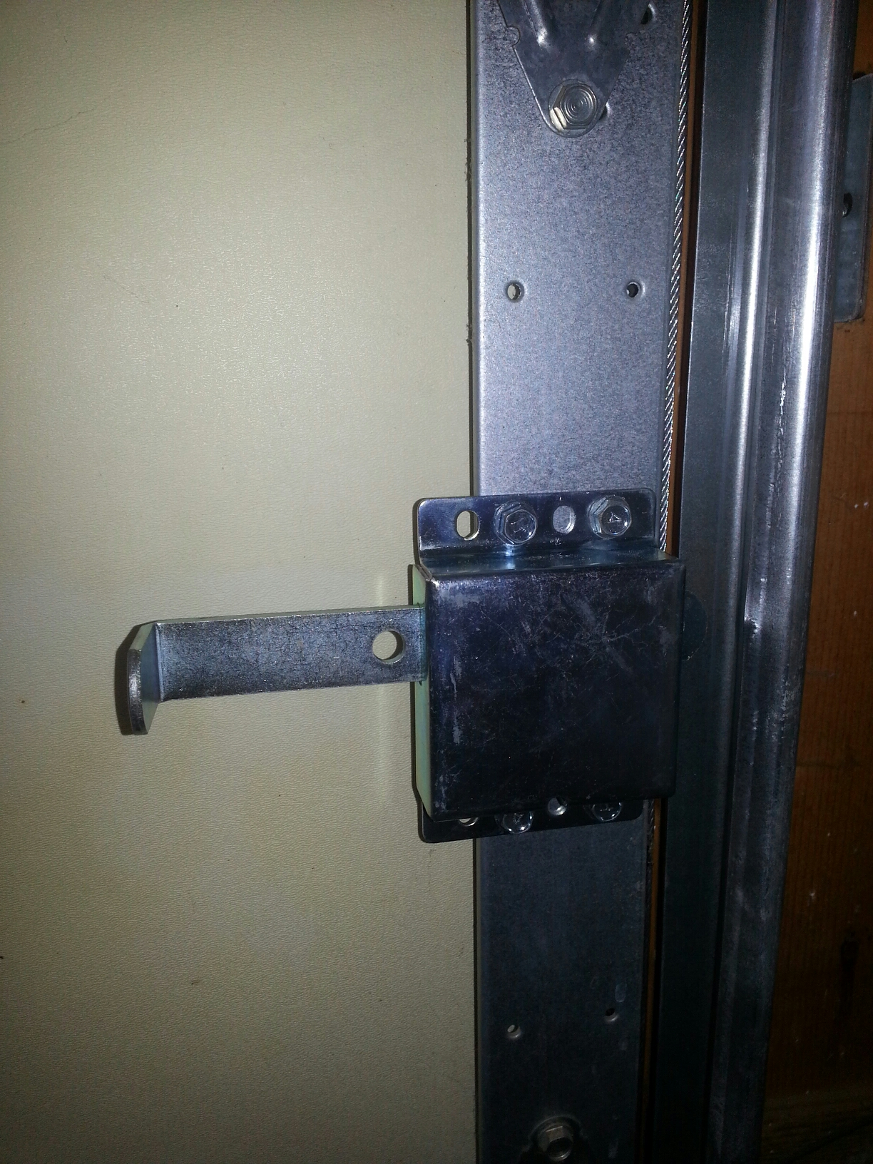 Completed A New Inside Interior Slide Lock Installation For A Residential Garage  Door In Wake Forest