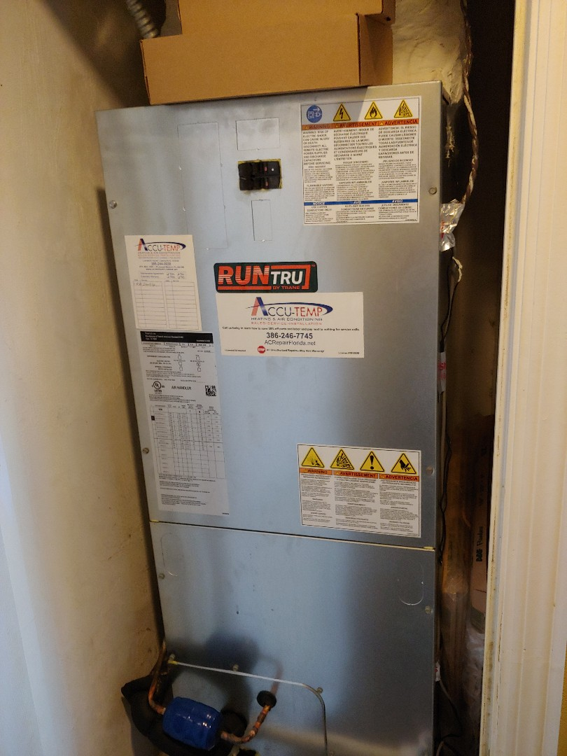 Palm Coast, FL - Replaced Thermostat on Trane Run Tru Heat Pump