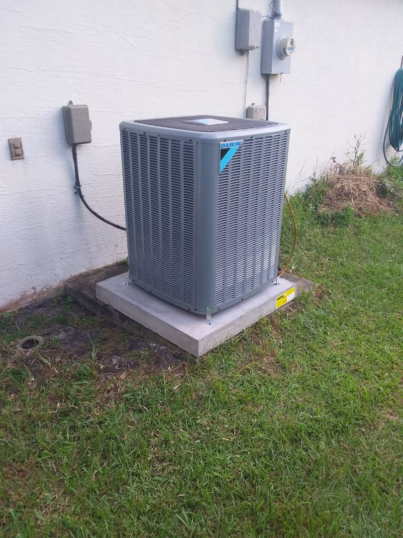 Palm Coast, FL - Heat pump install . Palm Coast