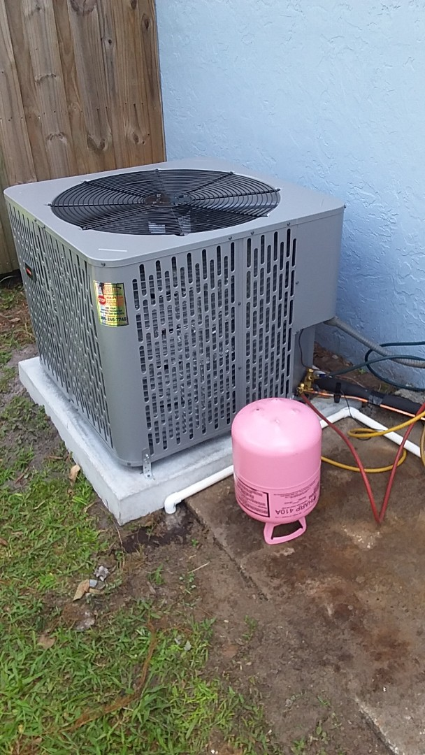 Palm Coast, FL - Heat pump install. F Section . Palm Coast
