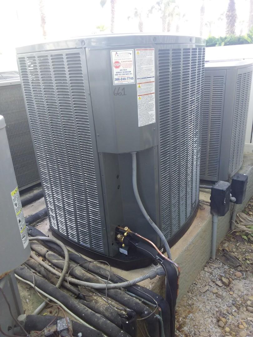 Palm Coast, FL - Heat pump install. Cinnamon Beach condos.  Palm Coast