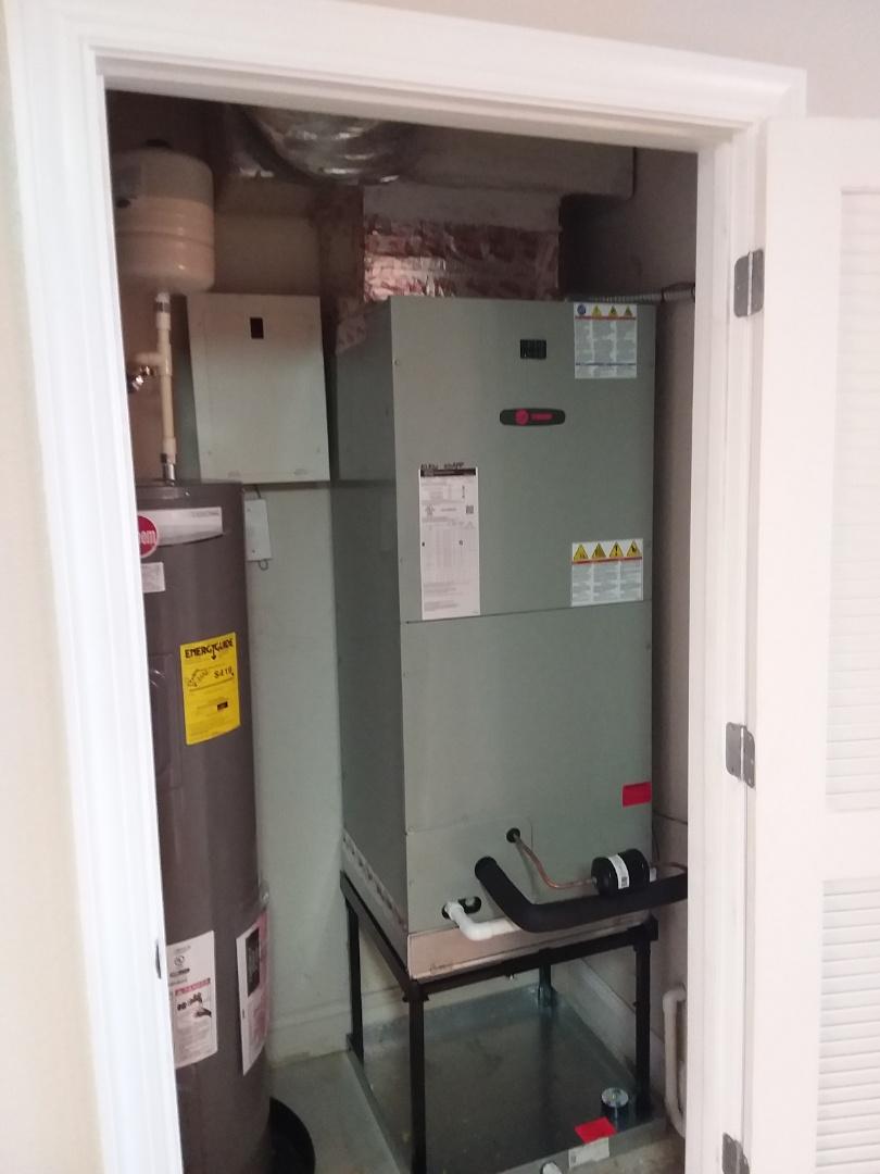 Palm Coast, FL - 3 trane heat pump install. Surf Club Condo