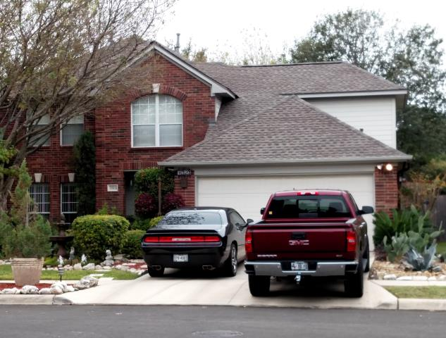 San Antonio, TX - Roofing replacement with dimensional upgrade to GAF Timberline HD Weatherwood shingles on beautiful 2 story San Antonio home.