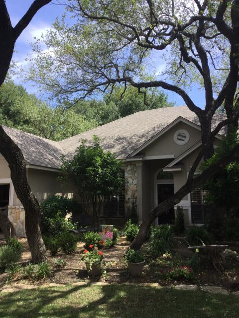 San Antonio, TX - Newly installed roof in the Oakwood area of San Antonio. The Integrity Roofing & Siding team are so grateful to have the opportunity to work on such a beautiful home.