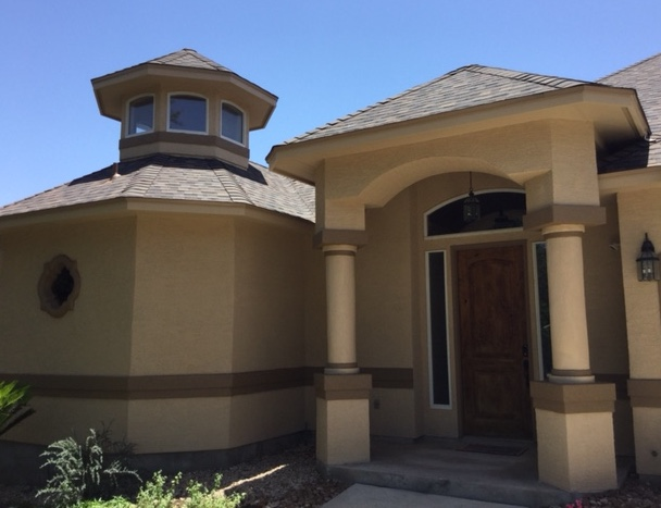 San Antonio, TX - New roof on this beautiful home near the Rogers Ranch in San Antonio. If you need your home re-roofed, be sure you call the roofing contractors of Integrity Roofing and Siding for your free estimate.
