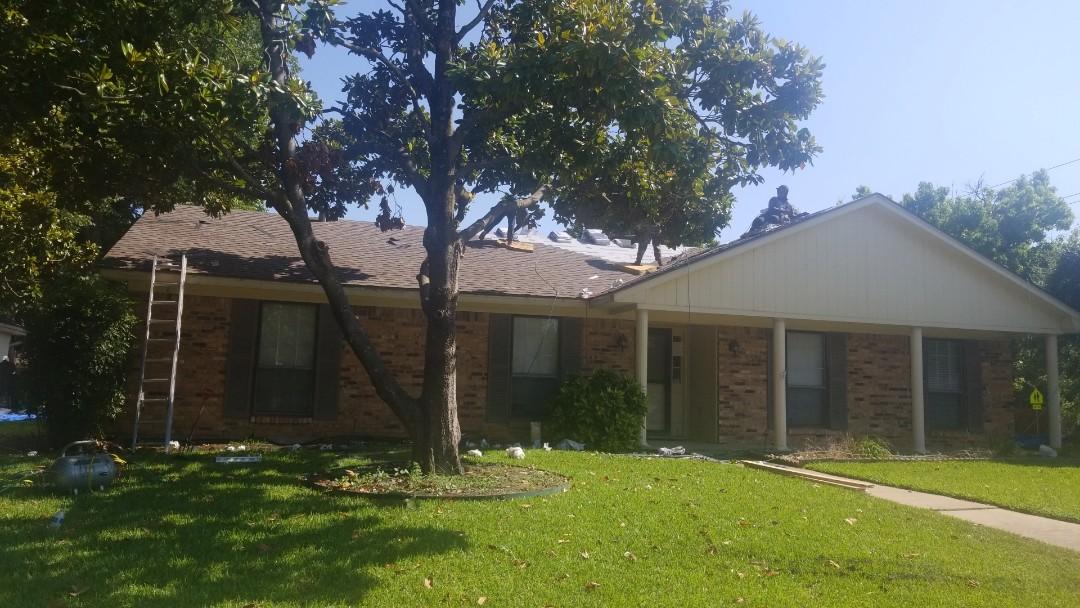 Richardson, TX - Reroof insurance work for hail damage