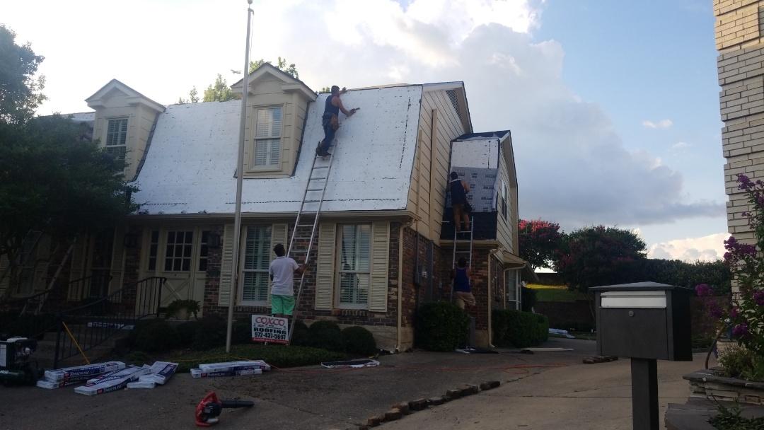 Dallas, TX - Mansard installation