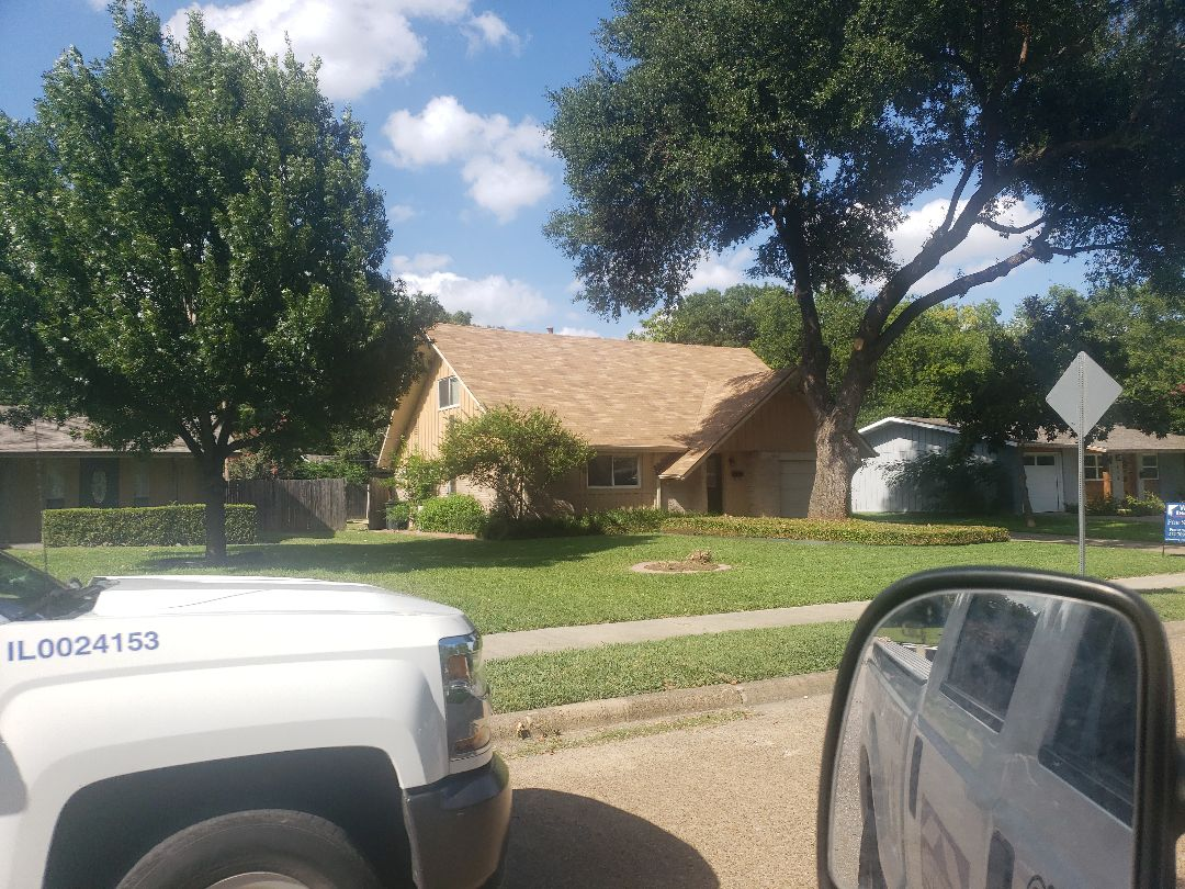 Richardson, TX - Homen inspection calls for a  qualified roofing professional to inspect this roof hailhurts.com