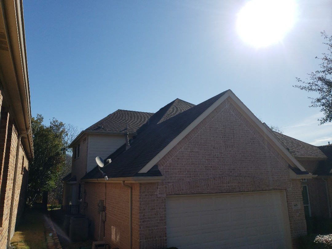 McKinney, TX - Meeting with an insurance adjuster ro discuss damage