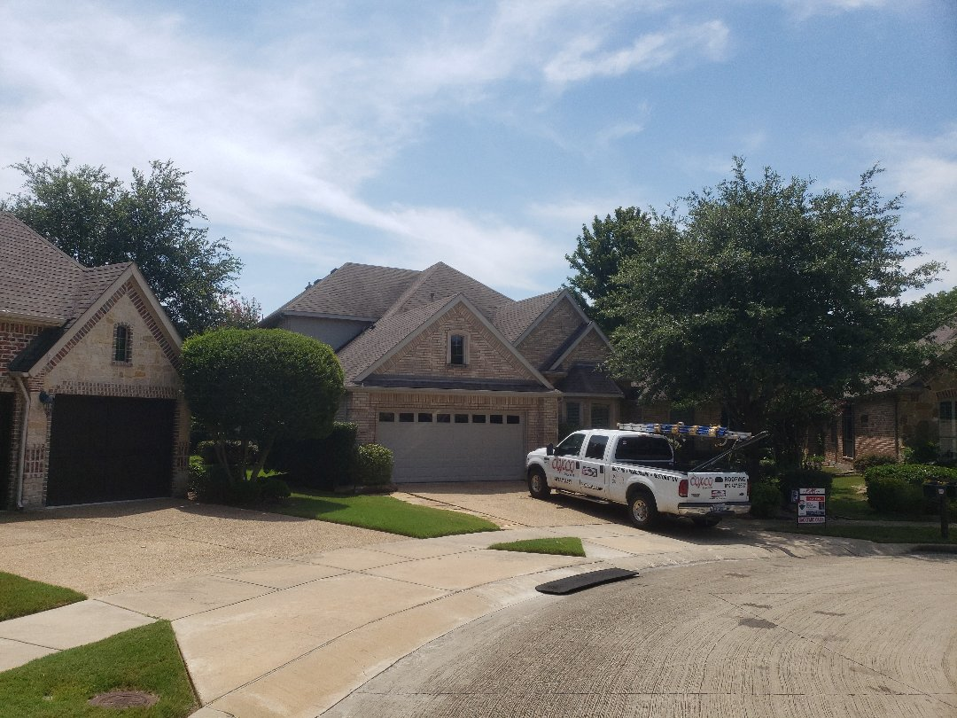 Fairview, TX - This house is under contract for sale and the realtor would like a roof inspection becauae the buyer's  inspector said there was hail damage. We will advise the seller is an insurance claim should be filed for replacement.