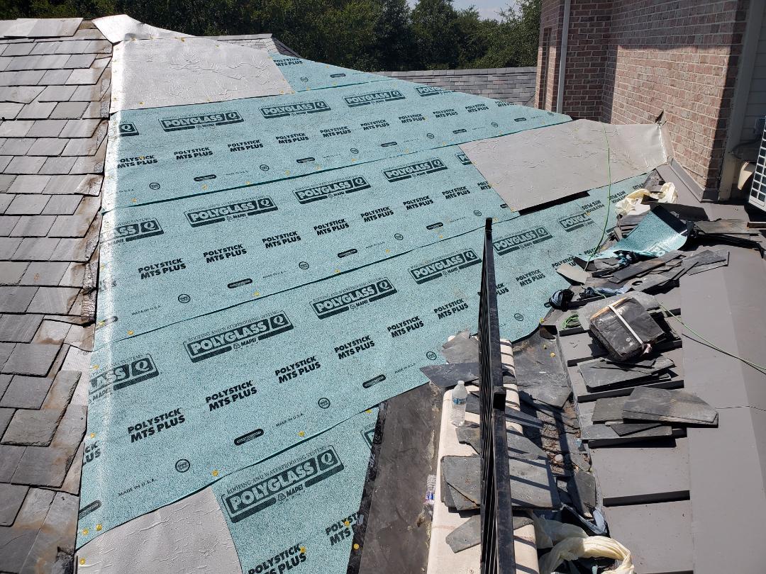 Plano, TX - Slate roof repairs. Hot hot hot