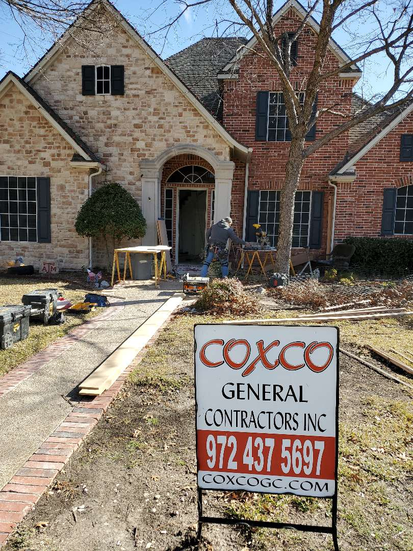 Garland, TX - Stairs today, major flood remodel.  Previous roof customer