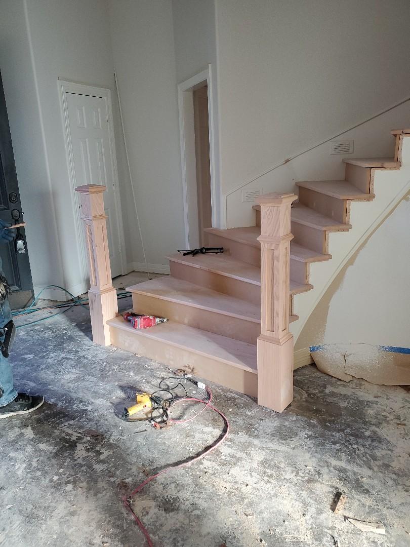 Garland, TX - Installing staircase today in Firewheel