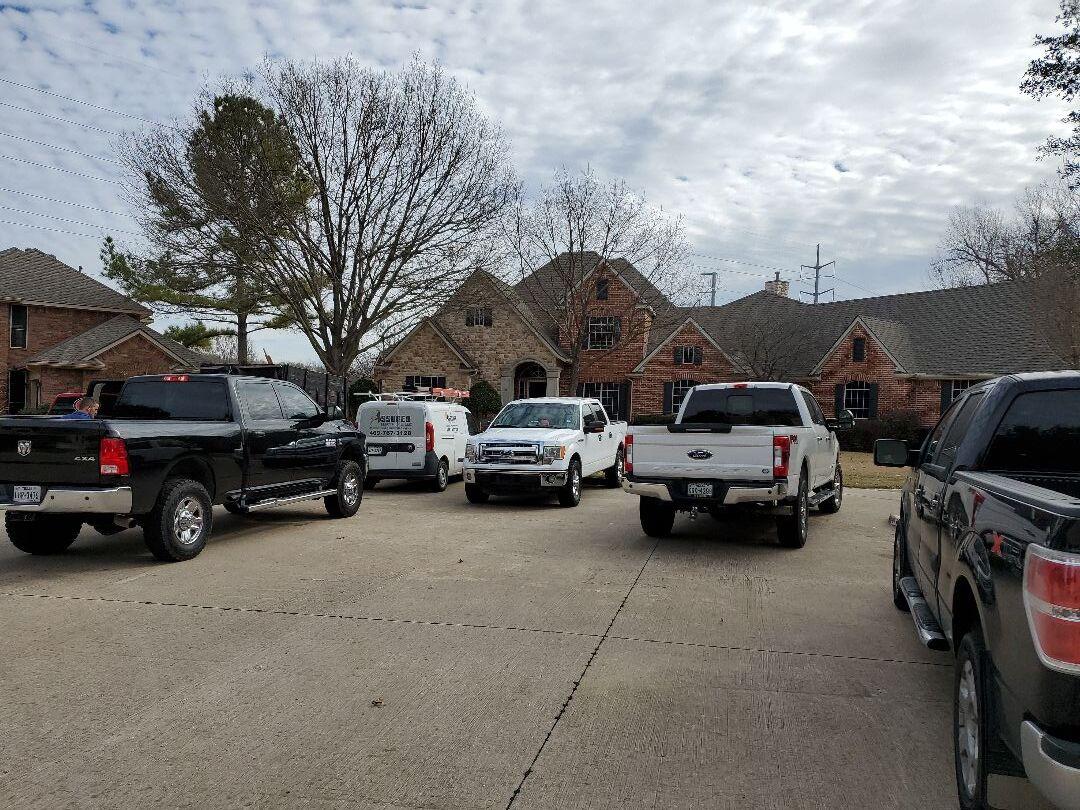 Garland, TX - Firewheel estates finishing kitchen flood
