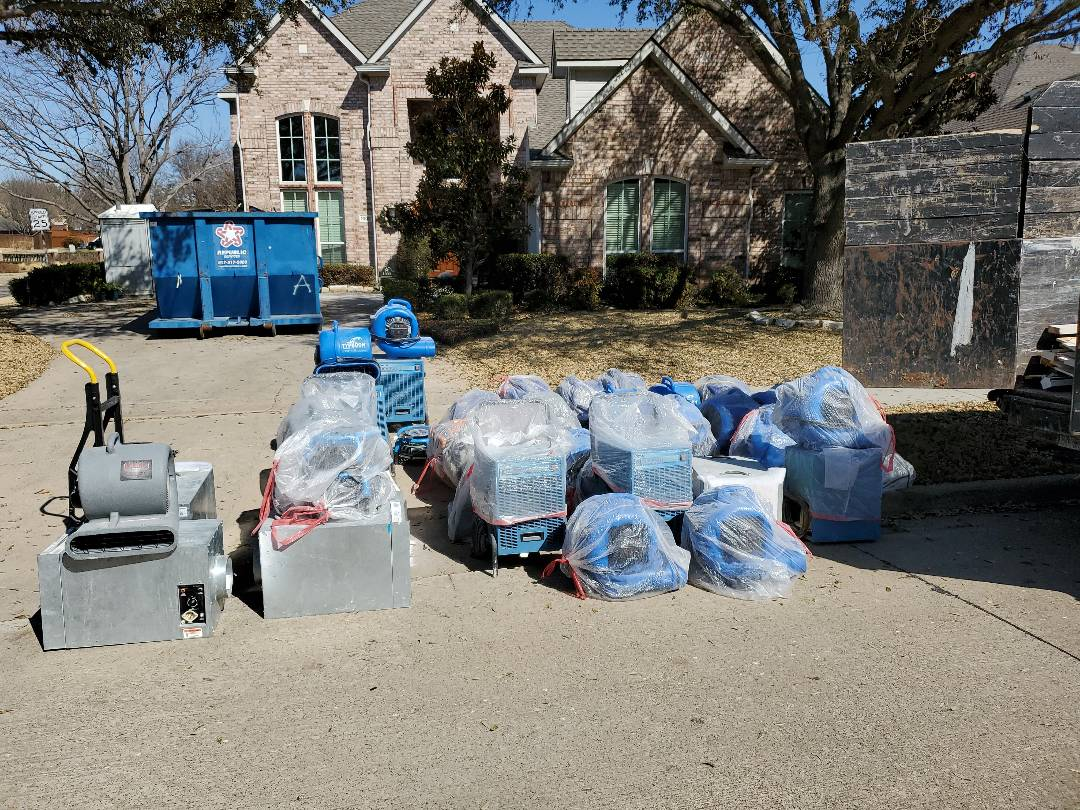 Coppell, TX - Dry down mitigation complete