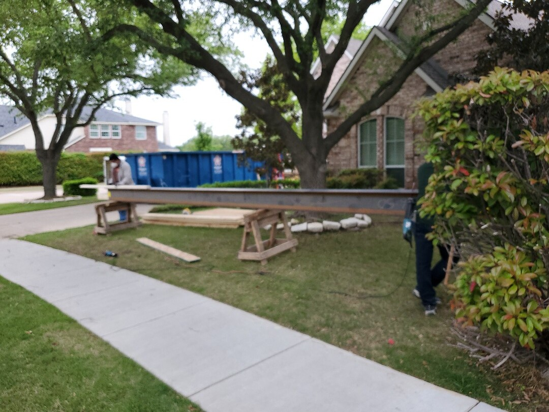 Coppell, TX - Installing  a beam